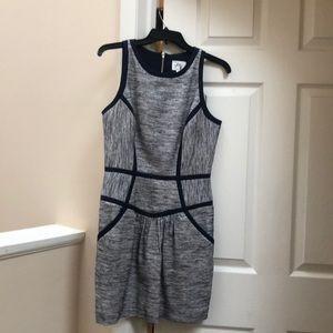 Milly size 8 navy tweed dress